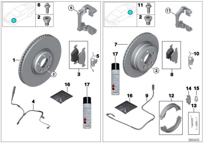 Reparatursatz Bremsbeläge asbestfrei  1er 2er 3er 4er  (34216873093)
