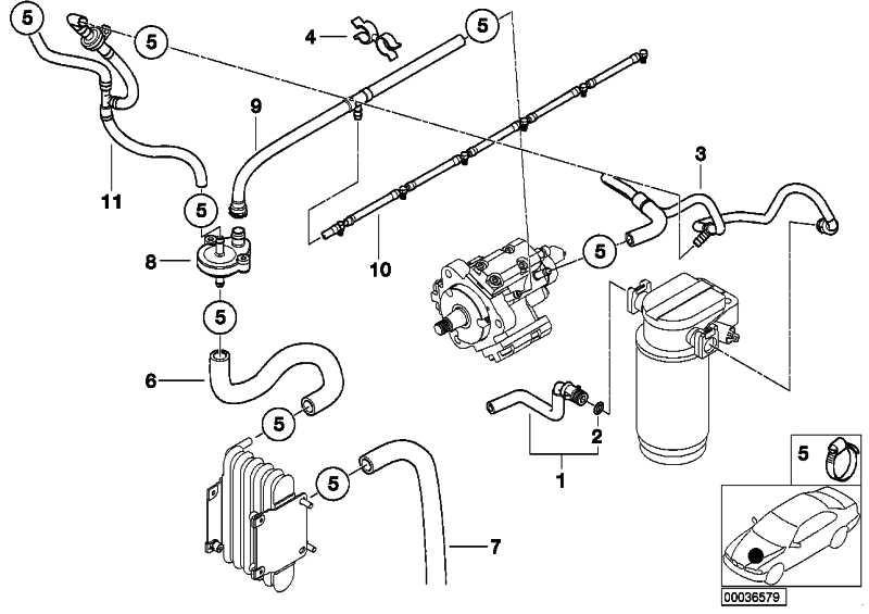 Kraftstoffvorlaufleitung  5er  (13537787428)