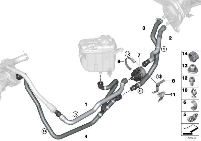 Schlauch Motorvorlauf-Wasserpumpe  3er 4er  (64219307240)