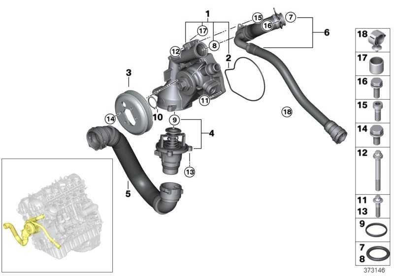 Leitung Kühlmittelpumpe-Zylinderkopf  3er 4er  (11537848500)