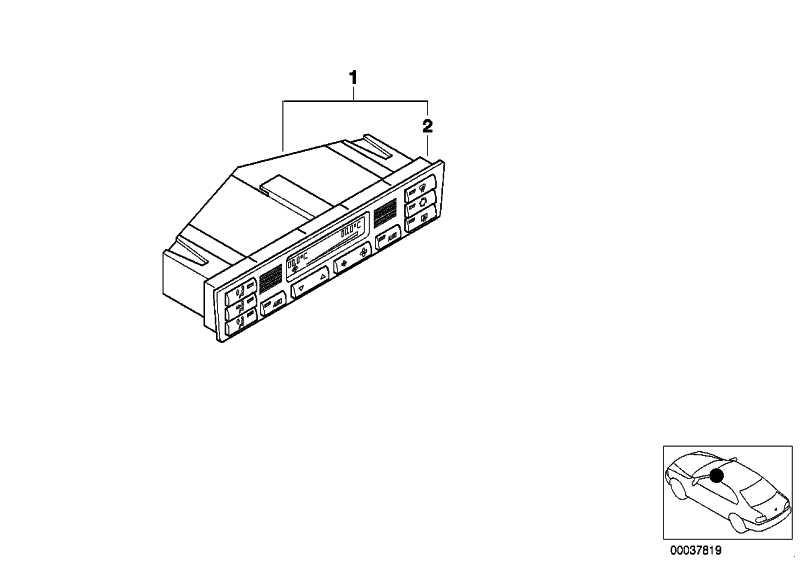 Bedienteil Klimaautomatik AUC  3er  (64116956319)