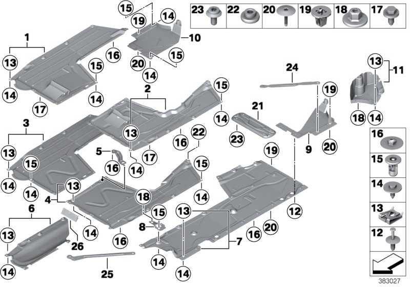 Unterbodenverkleidung Abgasanlage  1er 2er 3er 4er  (51757284933)