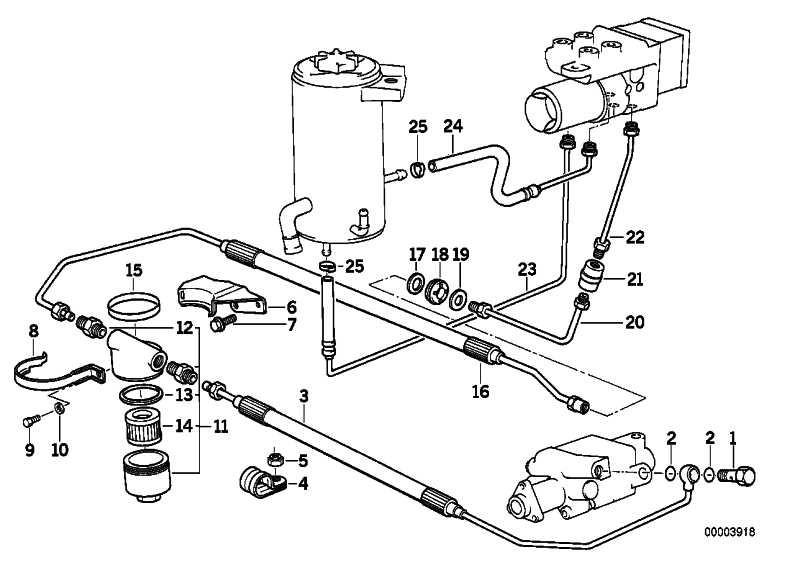 Rohrleitung M10/M10-380MM    3er 5er 6er 7er Z1  (34326755567)
