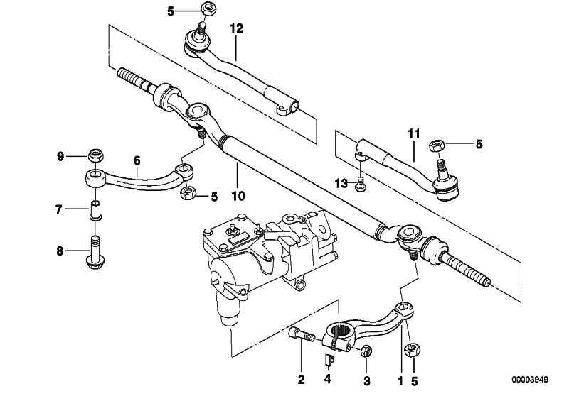 Spurstange Mitte LHD             7er  (32211096057)