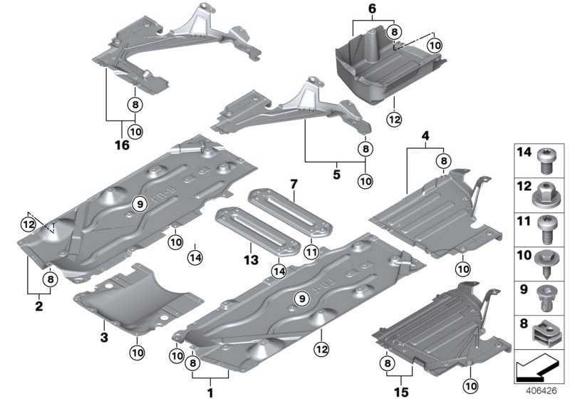 Unterbodenverkleidung seitlich links  MINI 2er X1  (51757290803)