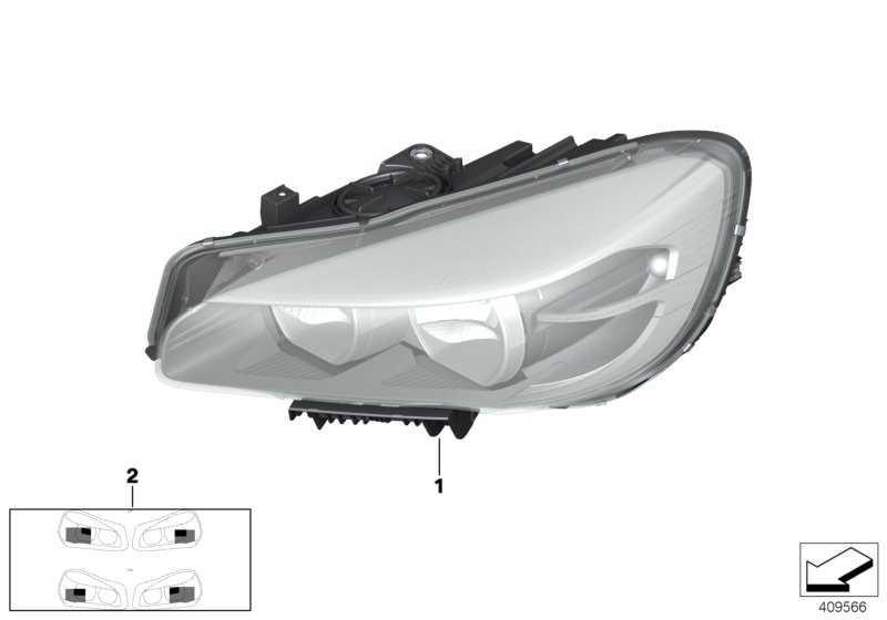 Scheinwerfer LED rechts  2er  (63117391402)