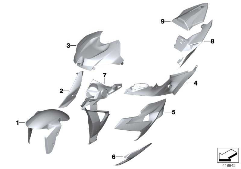 Abdeckung Scheinwerferverkleidung links LIGHT-WHITE  (46638549703)