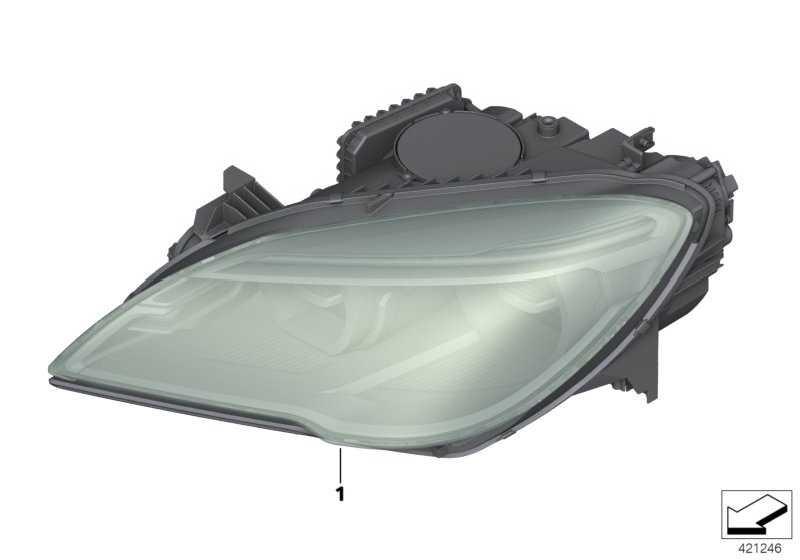Scheinwerfer LED AHL links  6er  (63117394913)