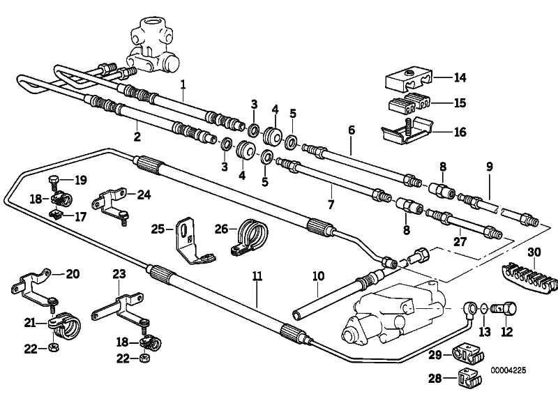 Halter Bremsleitung  1er 3er 5er 6er 7er X1 X3 X5 X6 Z3 Z4 MINI  (34301161736)