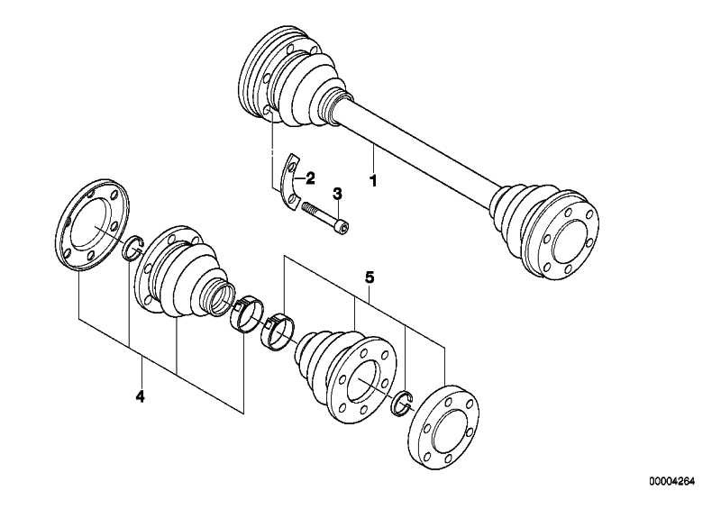 Schraube Aussentorx mit Rippverzahnung M10X46          3er 5er X5 Z3 Z4  (33211227664)