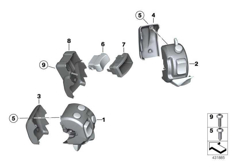 Kombischalter Heizgriff rechts  K25 K28 K29 K40 K43 K71 K72 K27  (61317694982)