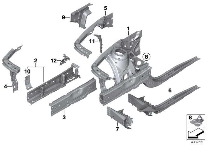 Stützträger Radhaus innen links  1er 2er 3er 4er  (41007284101)