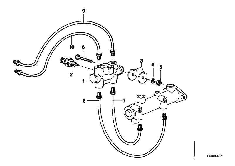Rohrleitung M10/M10-205MM    3er 5er Z1  (34326755550)