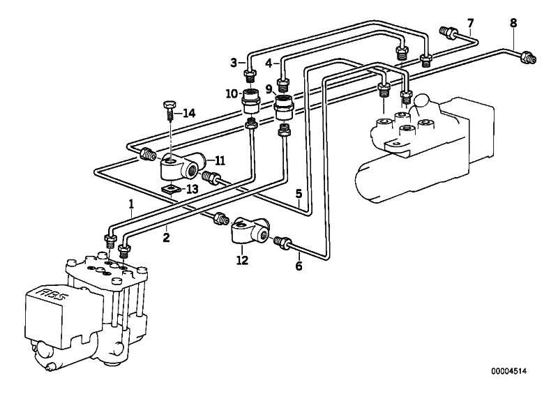 Rohrleitung M10/M12-990MM   3er 7er Z3  (34326755504)