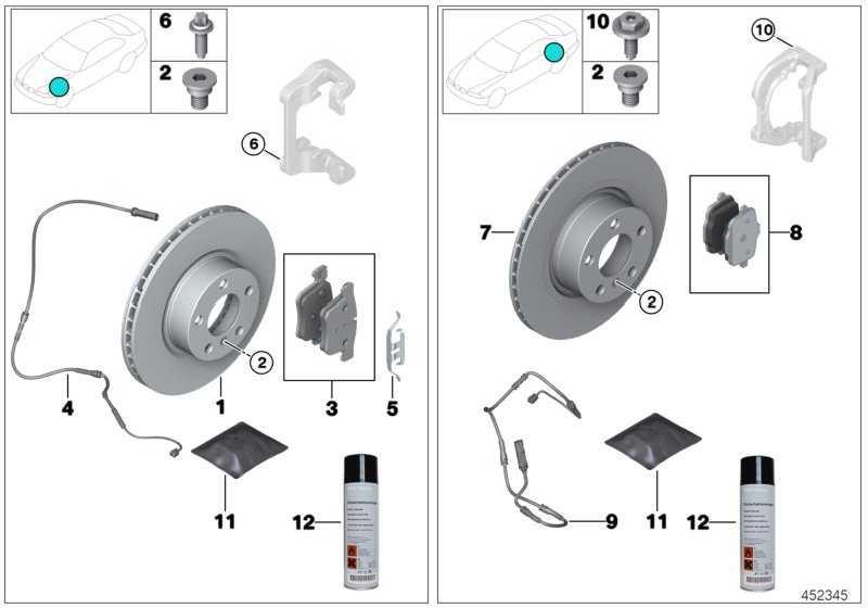 Reparatursatz Bremsbeläge asbestfrei  5er  (34216862202)