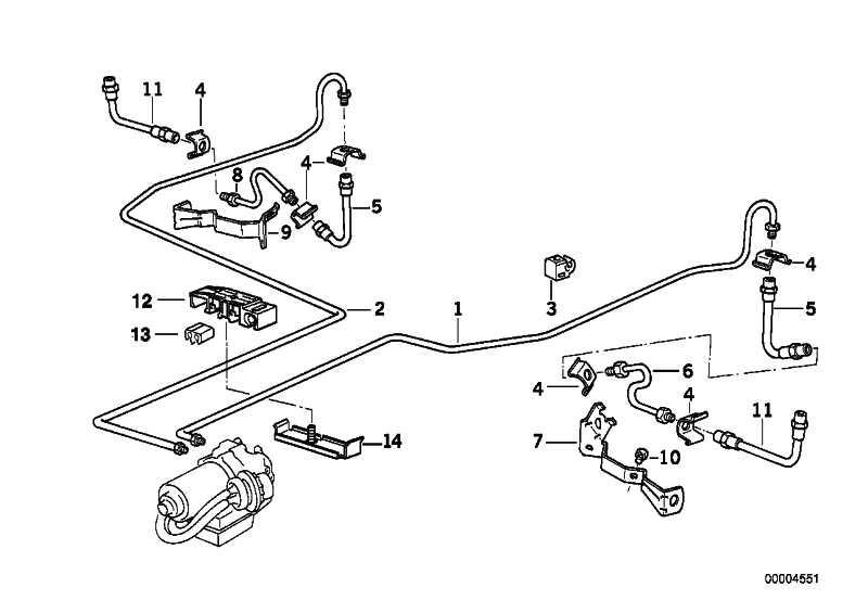 Halter Brems-/Kraftstoffleitung 3-fach  3er 5er 6er X5 Z3  (34306779773)
