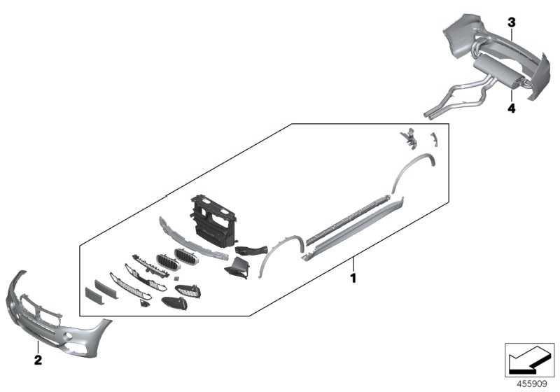 Verkleidung Stossfänger grundiert hinten M PDC           X5  (51128058060)
