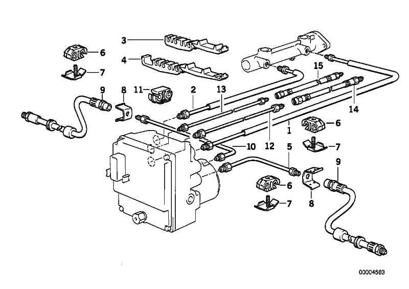 Halter Bremsleitung 2 fach  5er 8er  (34301162364)