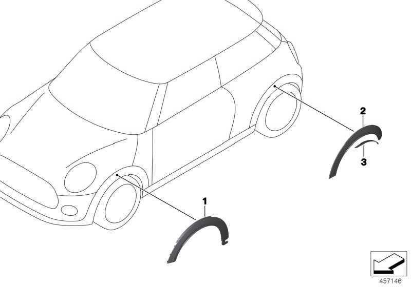 Satz Verbreiterungen Radlauf hinten JCW MINI  (51162289241)