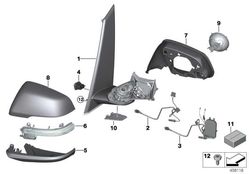 Kabelsatz Aussenspiegel beheizt rechts  2er X1  (51167415810)