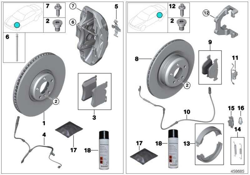 Reparatursatz Bremsbeläge asbestfrei  3er 4er  (34216850570)
