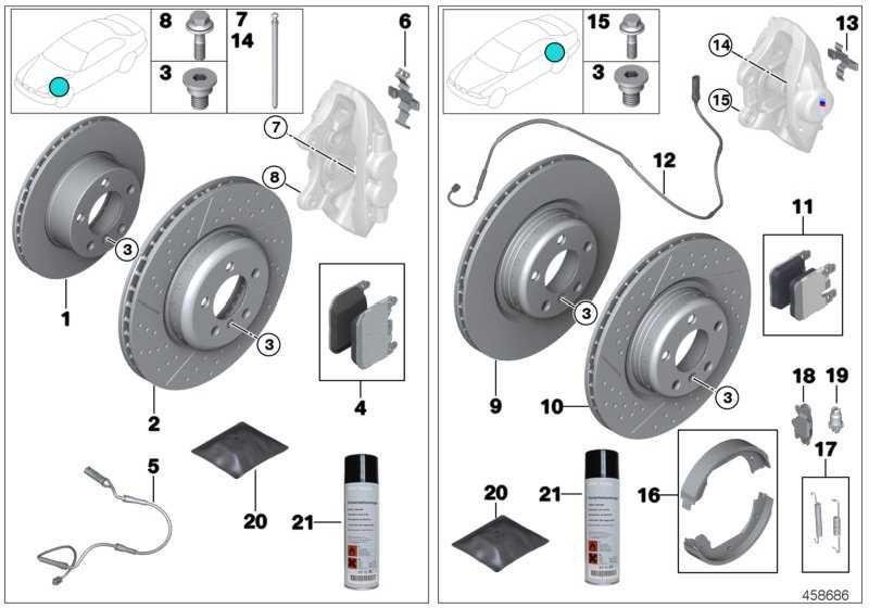 Reparatursatz Bremsbeläge asbestfrei  1er 2er 3er 4er  (34216876422)