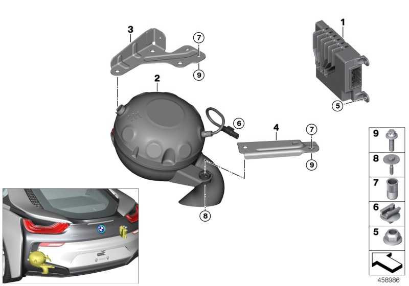 Halter Active Sound Design MOTORTRÄGER     i8  (13748610988)