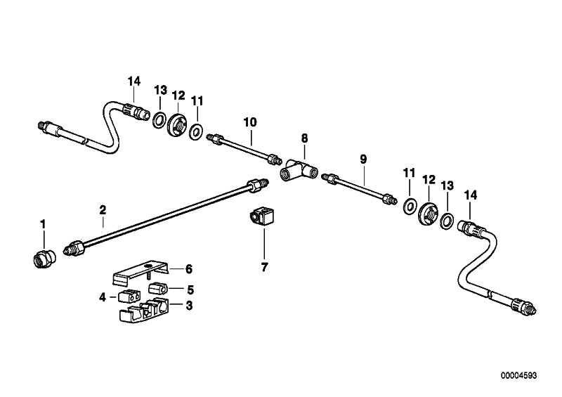 Bremsschlauch hinten  7er Z8  (34301163080)