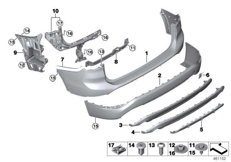 Blende Unterfahrschutz grundiert hinten SPORT LINE X1  (51127403394)