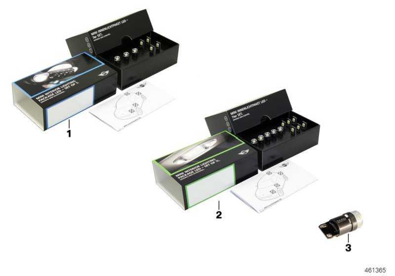 MINI Innenlichtpaket LED klein  MINI  (63302321990)