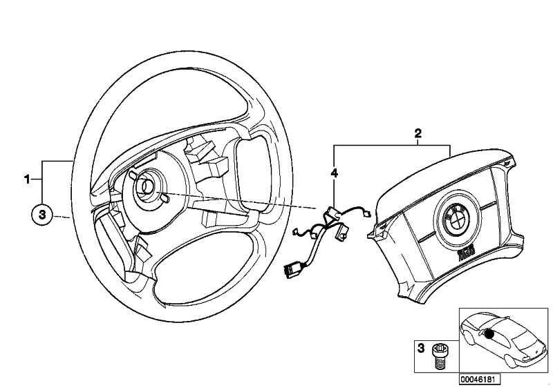 Lenkrad Leder Airbag  3er  (32346753947)