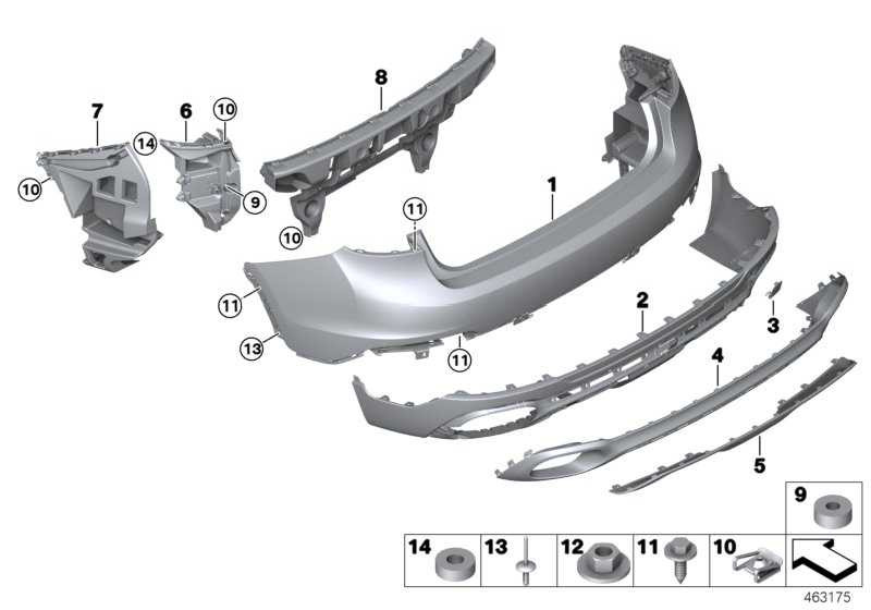 Verkleidung Stossfänger hinten unten V6 X6  (51127414309)