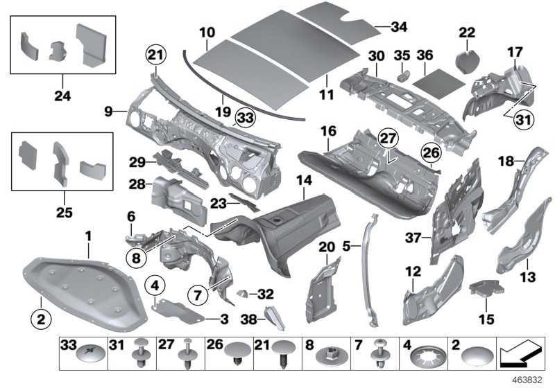 Schallisolierung Motorraum links  1er 3er 4er 2er  (51487265119)