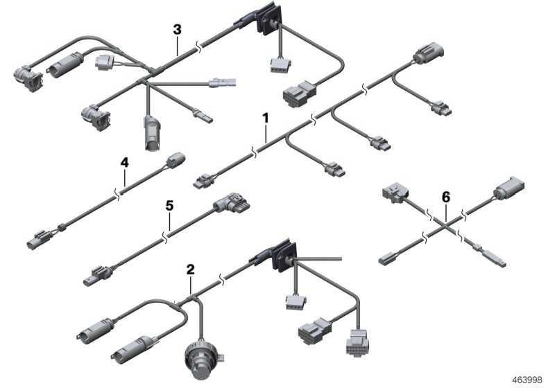 Kabelsatz PDC vorne  3er  (61129145026)