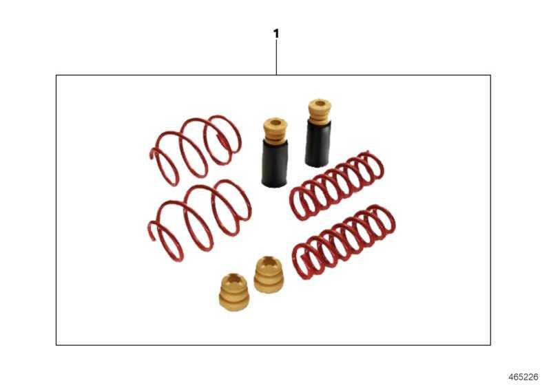 Zusatzdämpfer Kit M PERFORMANCE 2er  (33502411196)