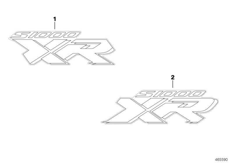 """Schriftzug """"S1000XR"""" links   (51148555629)"""