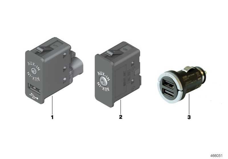 USB/AUX-IN Buchse  X3 X4 X5 X6 MINI  (84109266607)