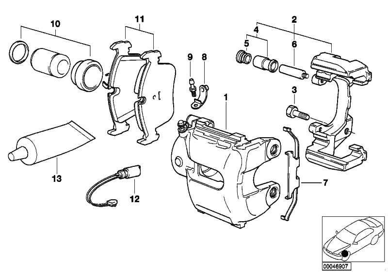 Reparatursatz Bremsbeläge asbestfrei  3er Z3 Z4  (34116761244)