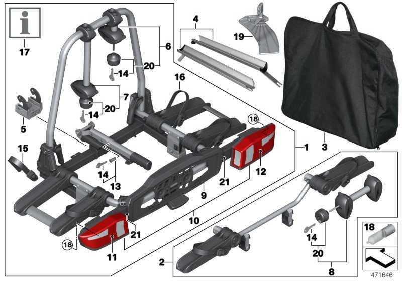 Fahrradheckträger Pro 2.0 RHD 1er 2er 3er 4er 5er 7er X1 X3 X4 X5 X6 MINI  (82722409510)