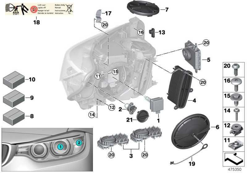 Scheinwerfertreibermodul Xenon-Licht  4er X5 3er X6  (63117316187)