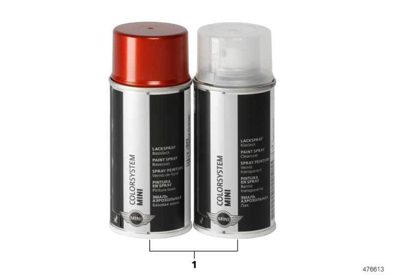 Lackspray Set Pepper White uni 2X150ML  850  (51910146833)