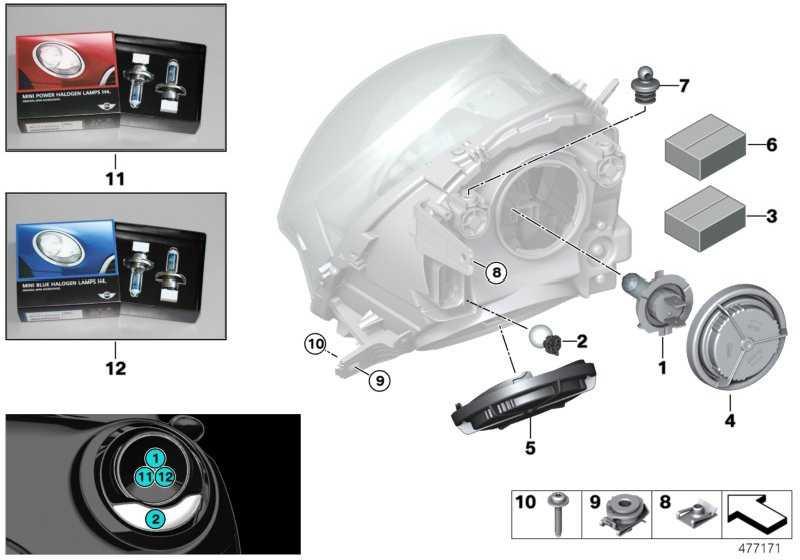 MINI Power Halogenlampen 2 X H4 MINI  (63112413042)