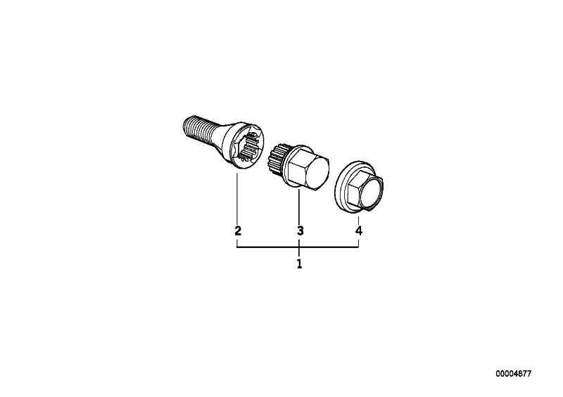 Radschraube mit Code CODE 35 3er 5er 6er 7er 8er Z1 Z3 Z4 Z8 MINI  (36131181275)