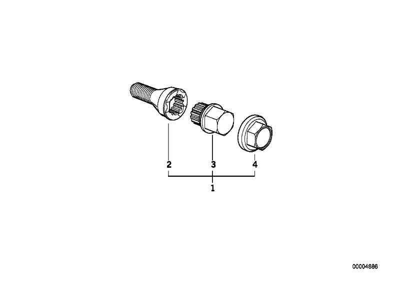 Radschraube mit Code CODE 39 3er 8er 7er 5er Z8 6er Z4 Z1 Z3 MINI  (36131181279)