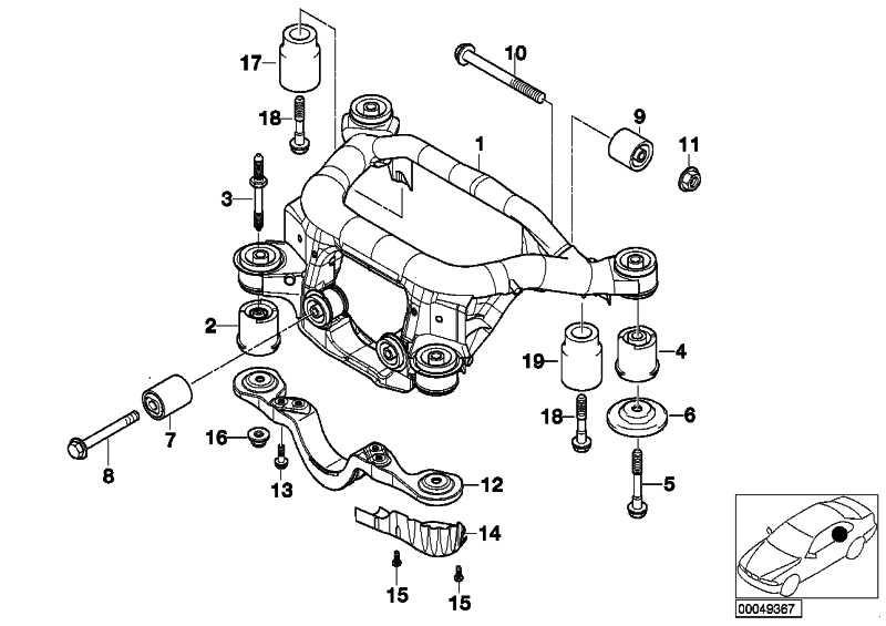 Gummilager hinten  3er X3 Z4  (33316770781)