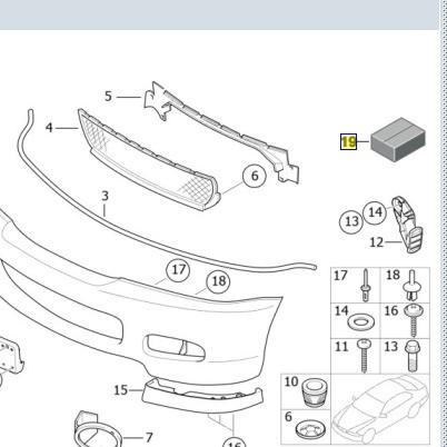BMW Stossfänger Anbauteile Satz vorn 3er E46