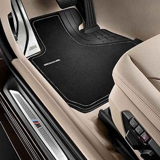 BMW Textil-Fußmatten Luxury vorne 3er F30 F31 F34 GT F80 M3 ohne xDrive