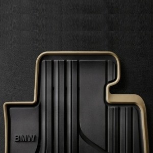 BMW Allwetter-Fußmatten Modern vorne schwarz/beige 1er F20 F21 2er F22 F23