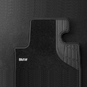 BMW Textil-Fußmatten mit Trittschutz Modern Satz vorne schwarz/beige 1er F21 2er F22