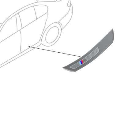 BMW M Blende Einstieg hinten links/rechts 5er F10 F11